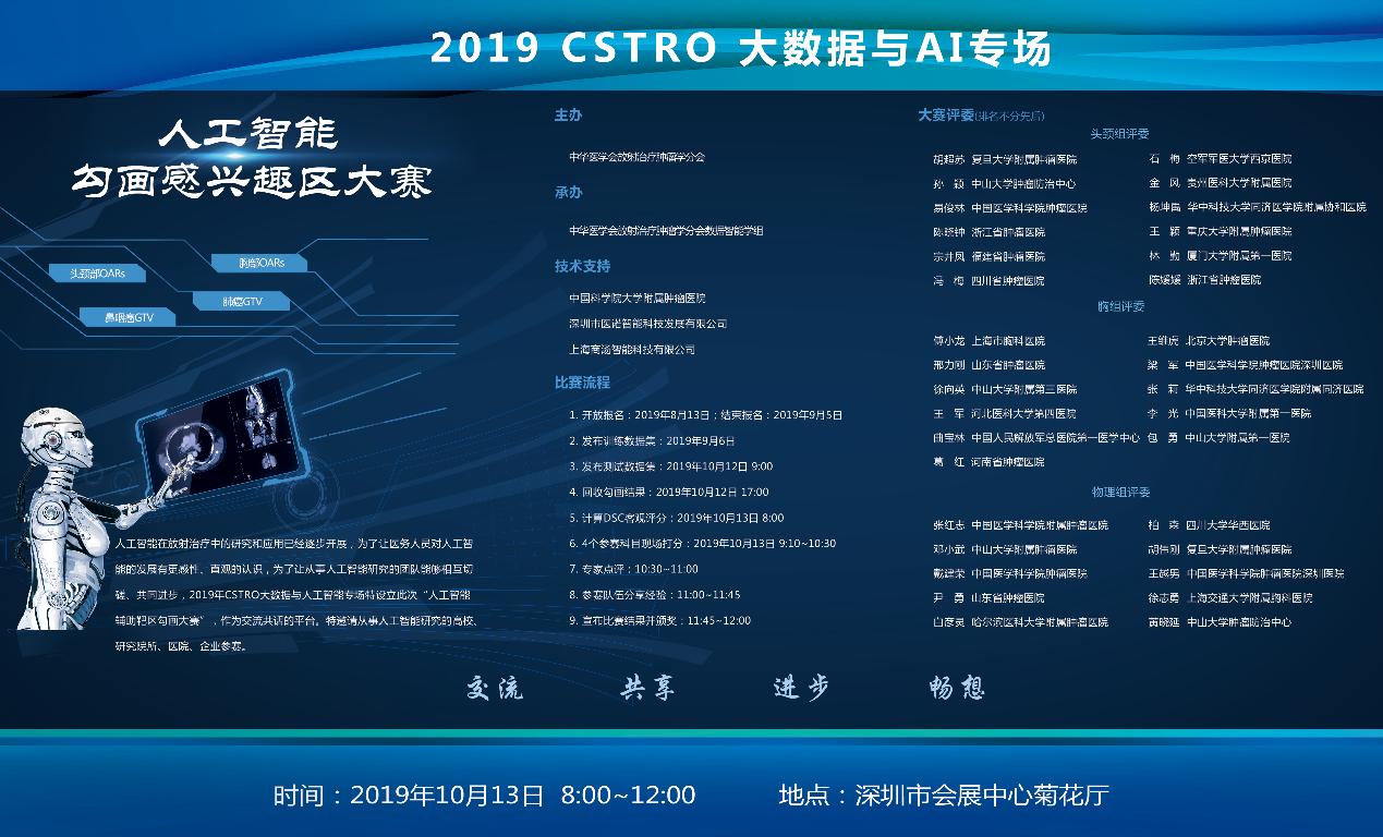 热烈祝贺全国放疗学术年会首届CSTRO AI勾画大赛成功举办